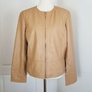 Yvonne La Marie  Lamb Leather Jacket in Camel